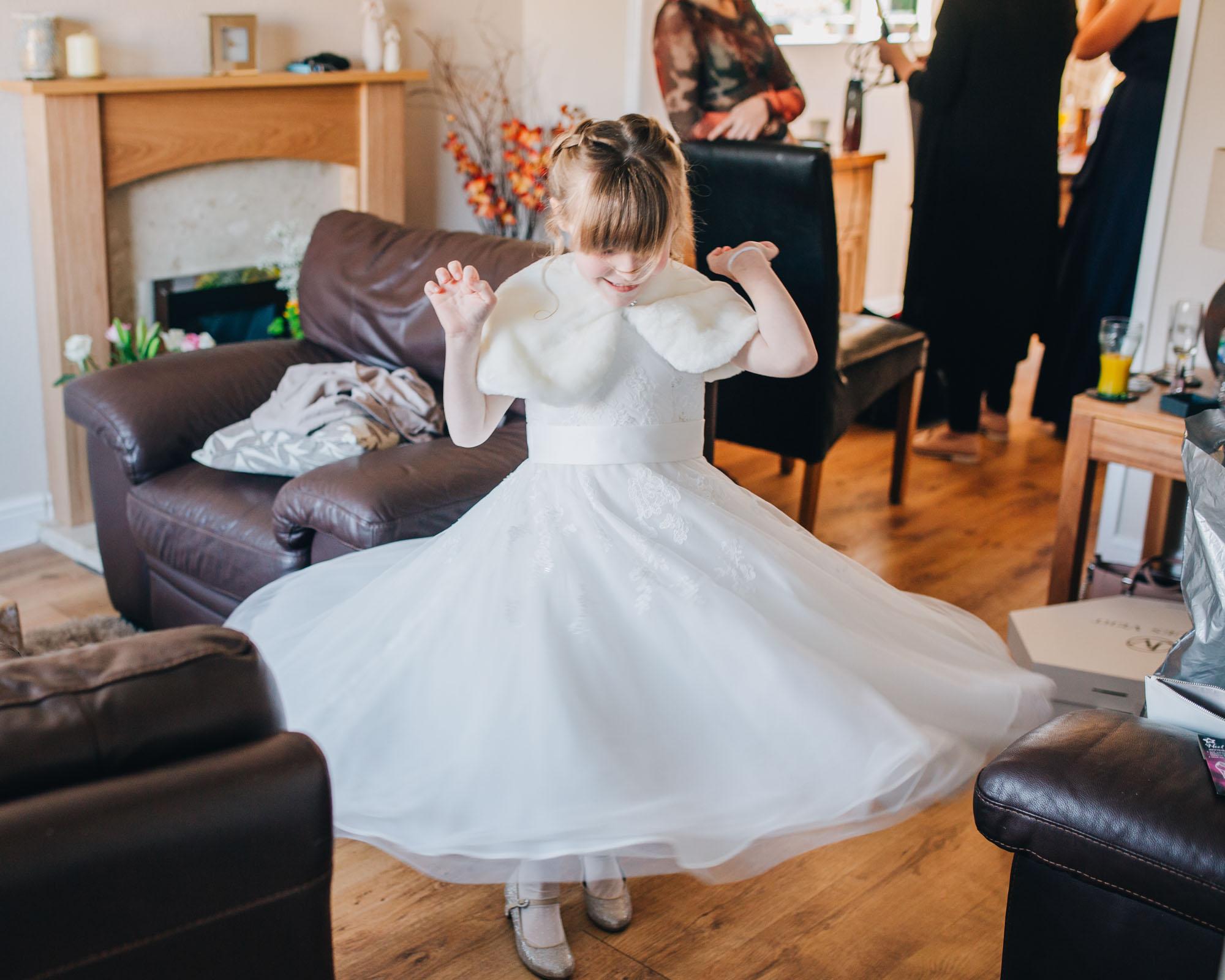 spinning bridesmaids