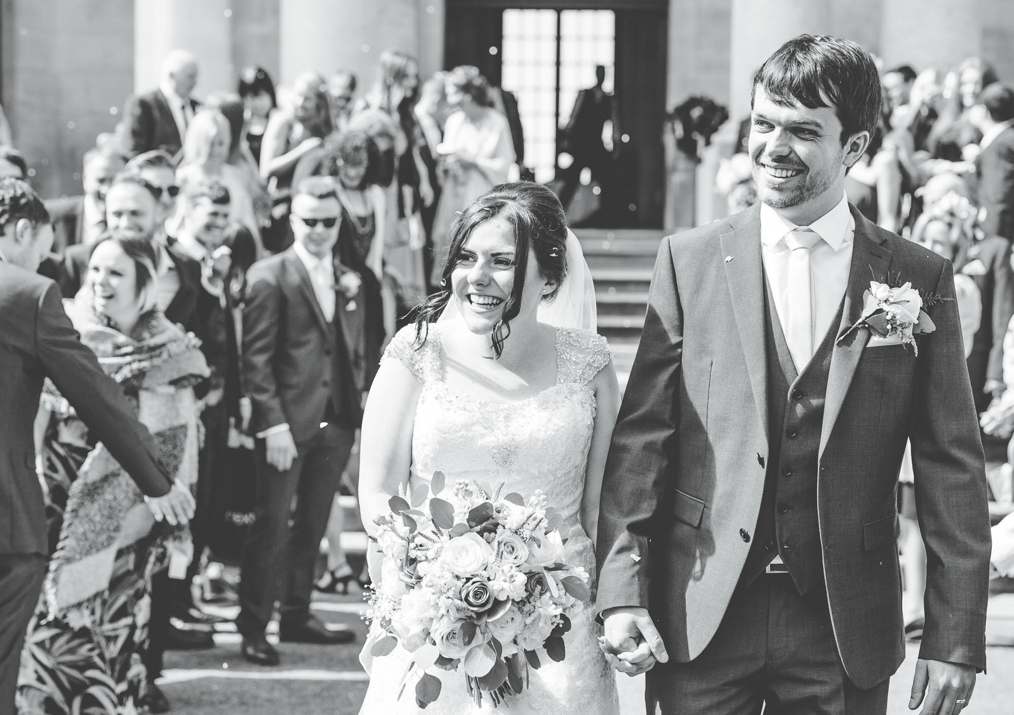 happy bride and groom - wedding photographer Lancashire