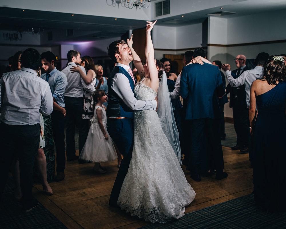 Vintage wedding at Ashton Memorial, bride and groom on the dance floor, Rustic wedding photography, Documentary wedding photography.