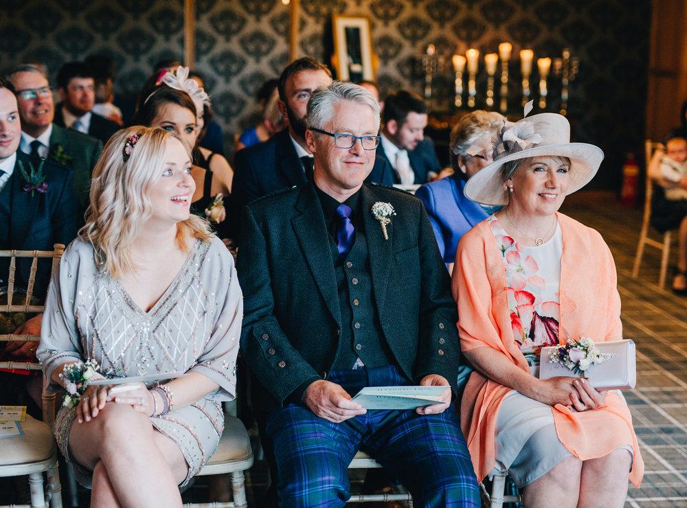 Wedding guests, documentary wedding photography, pastel themed wedding.