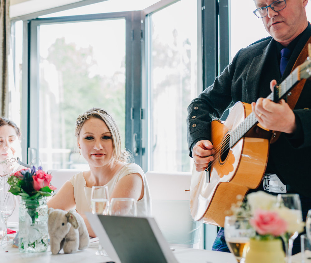 A song from the father of the bride, same sex wedding, documentary wedding photos, relaxed wedding.