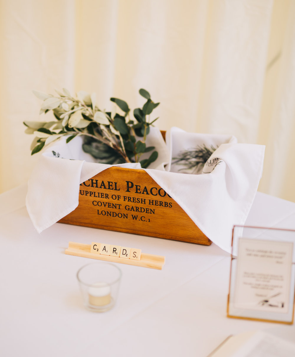 Wedding table decoration at the relaxed calm wedding, Wedding photographer form Lancashire.