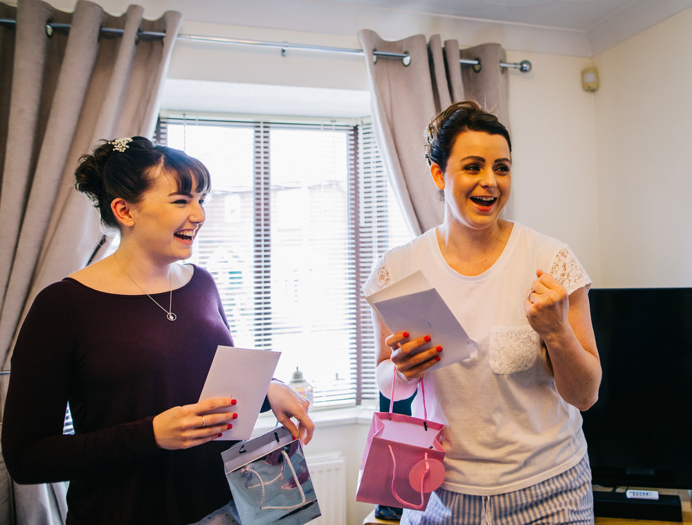Laughter from the bridesmaids, Fun quirky wedding.
