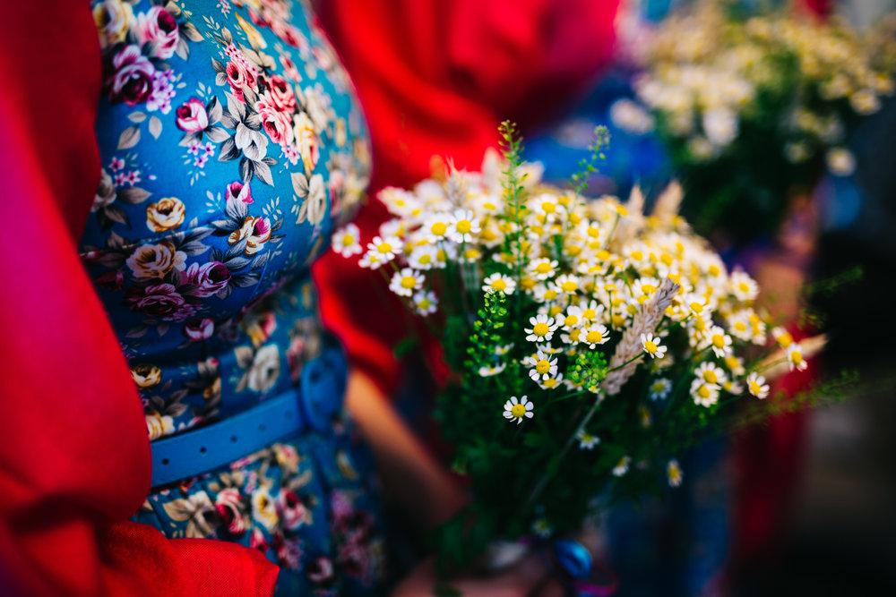 Bridesmaids bouquet, colourful wedding.