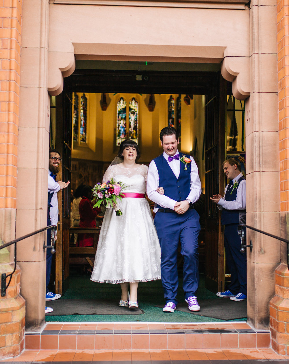Bride and groom, Quirky wedding at Wellbeing Farm.
