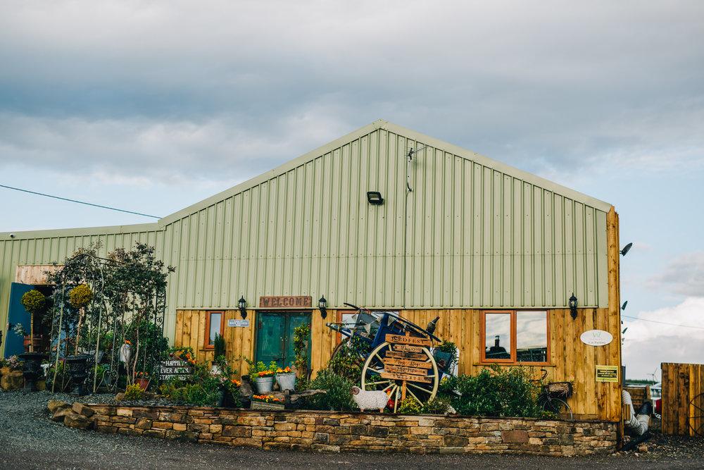 The Wellbeing Farm for a wedding, creative quirky wedding.