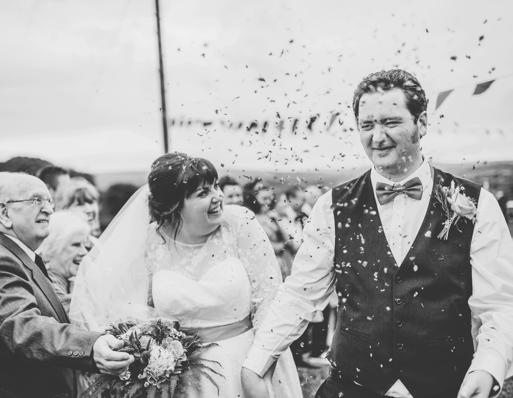 The air filled with confetti, creative photographer lancashire.