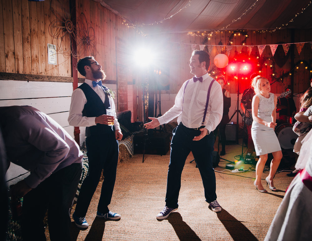 Singing and dancing on the dance floor, Colourful wedding.