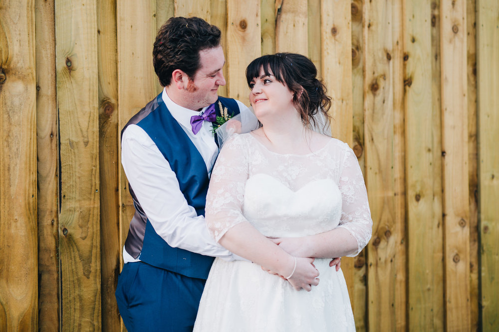 Smiles from bride and groom, Bride and groom photographs, Lancashire photographer.