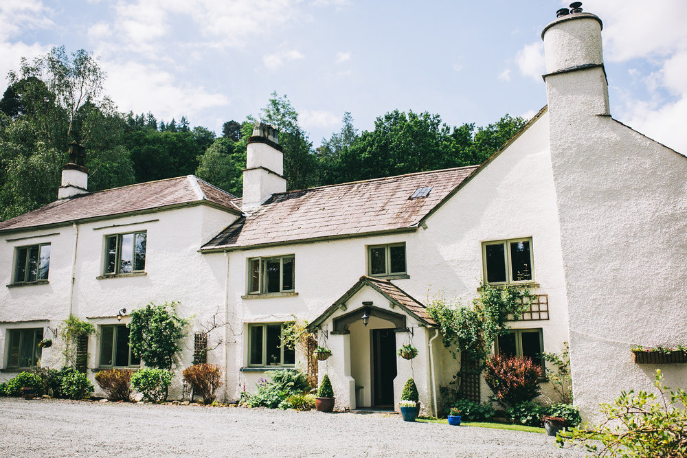 exterior image of the Cote How wedding venue in the Lake District