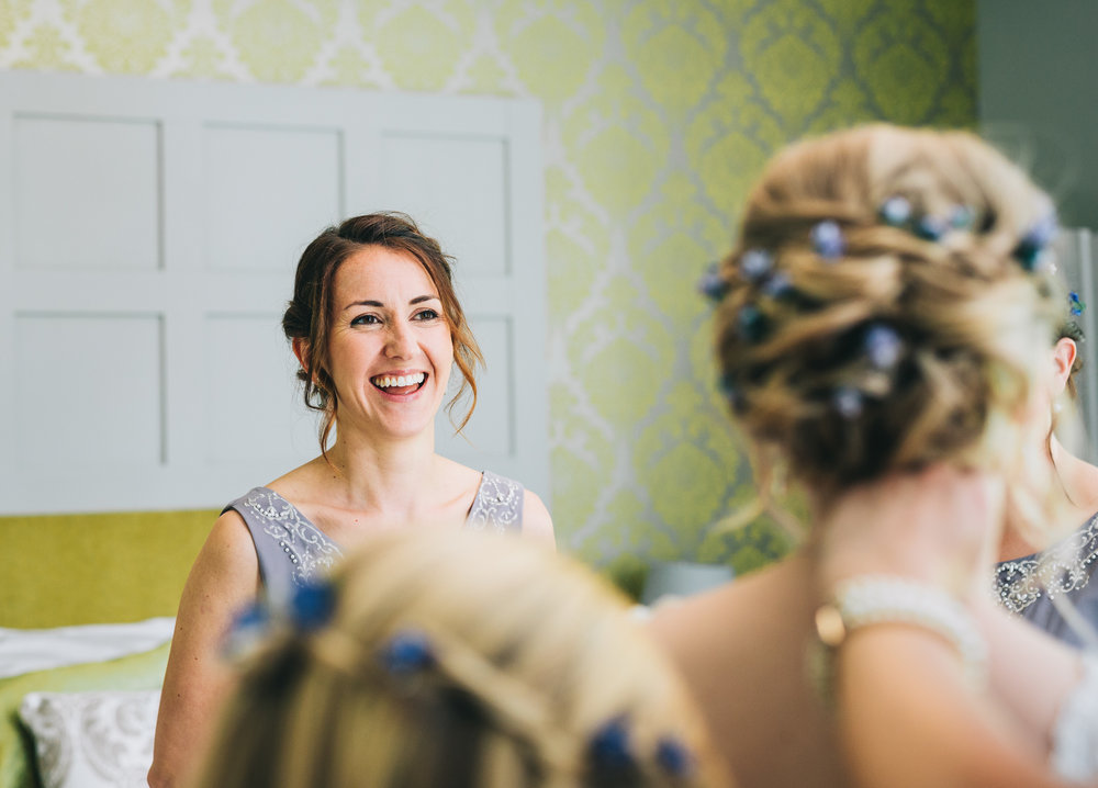 emotional images of the bridesmaids