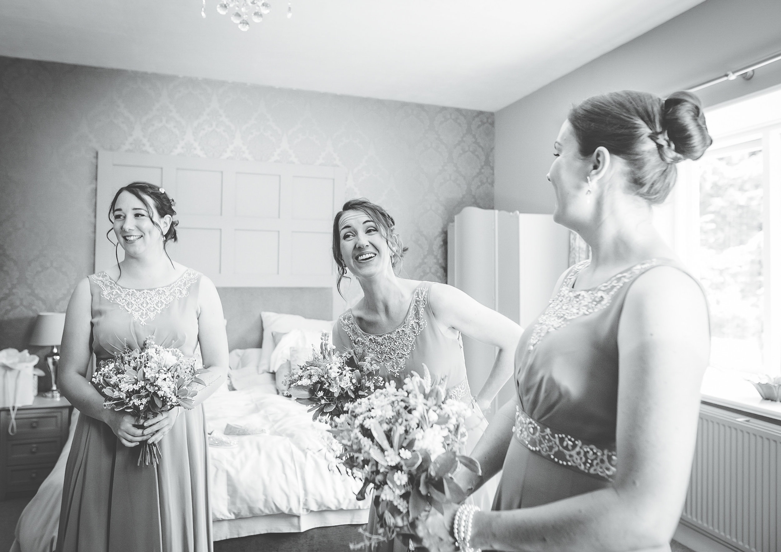 silly laughter - bridesmaids