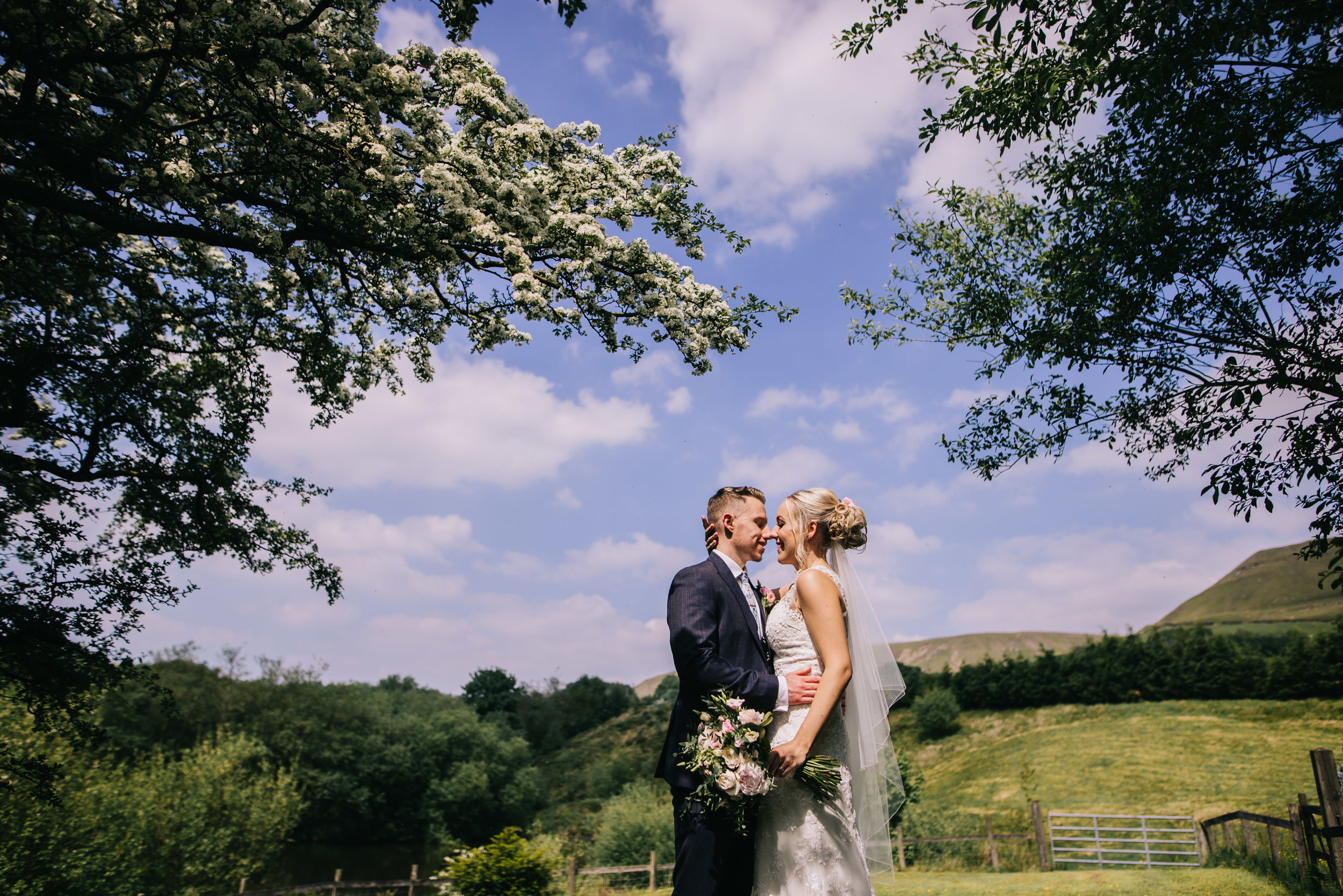 gorgeous blue skies - Fisherman's Retreat wedding