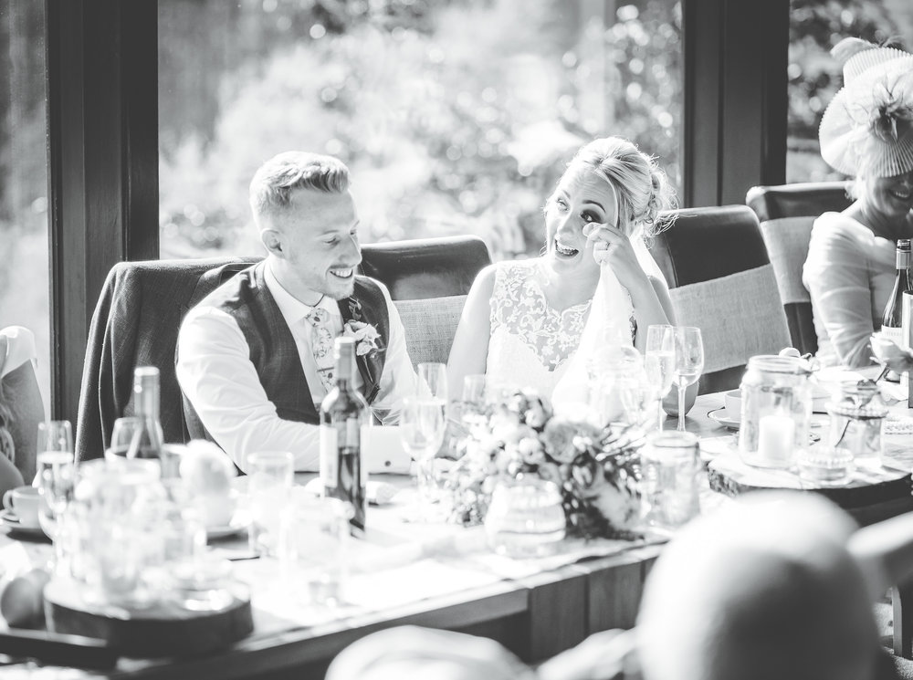 bride gets emotional during speeches - wedding photographer lancashire