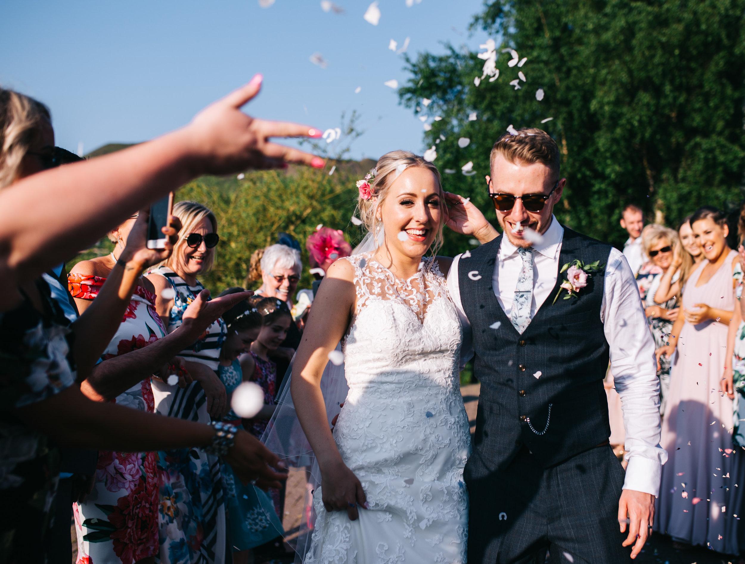 smiling bride - Confetti