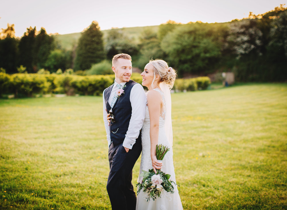 relaxed portraits of the newlyweds from Rachel Joyce Photography at the fisherman's retreat