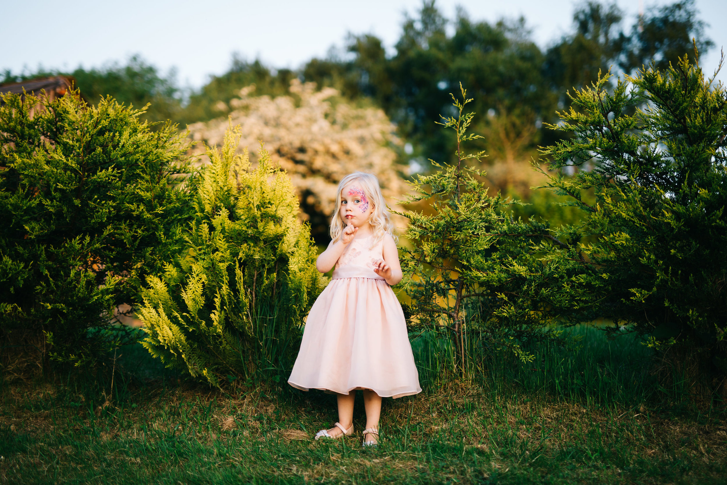 little girl at Lancashire wedding
