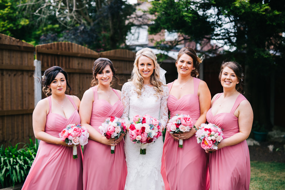 The bride and her bridesmaids, Documentary styled wedding photographer.