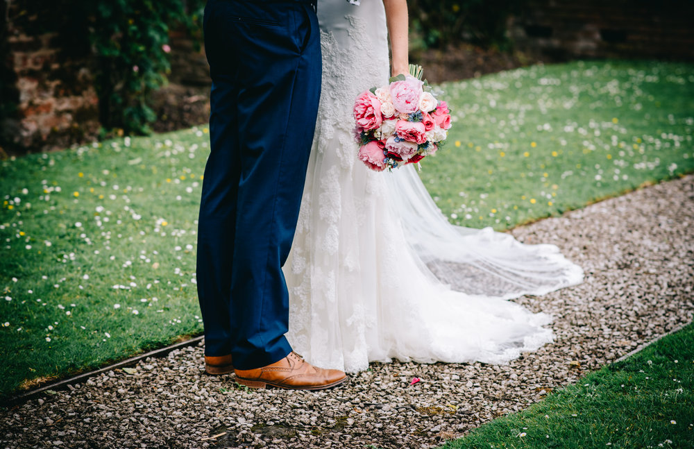 The wedding bouquet of the brides, creative wedding photographer from Lancashire.