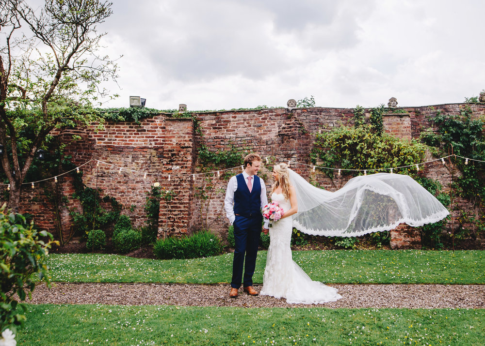 The lovely bride and groom, Lancashire wedding photographer.