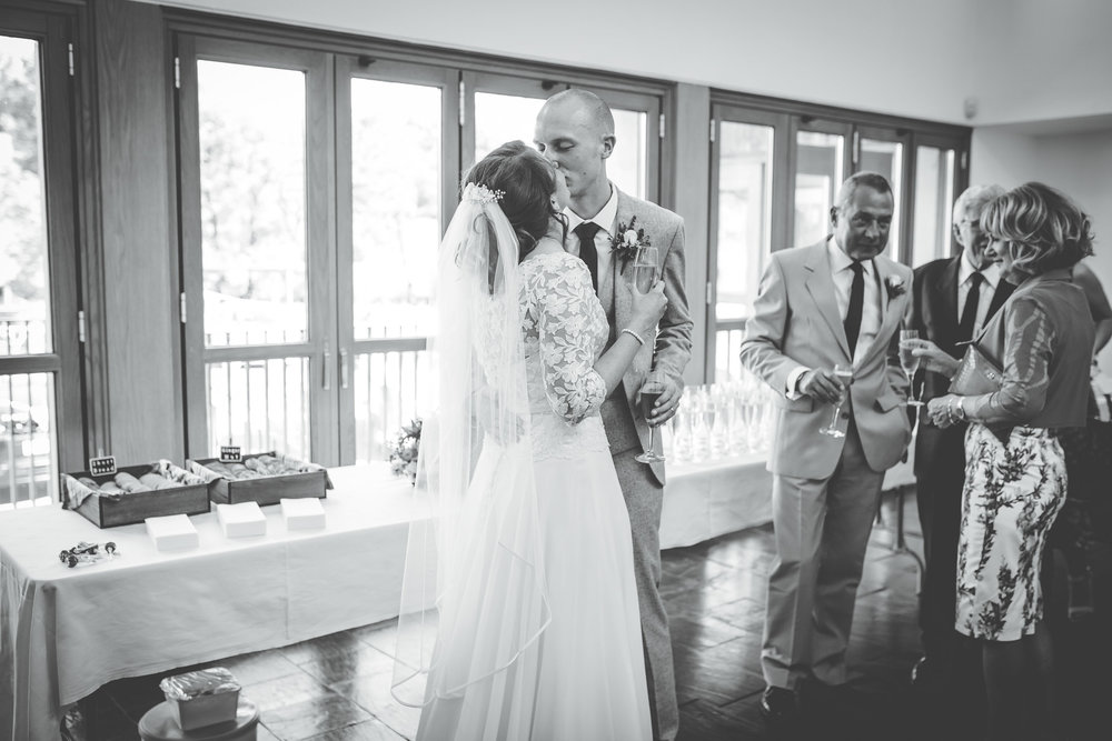 Black and white photograph of the bride and groom, rustic themed wedding, DIY Wedding.
