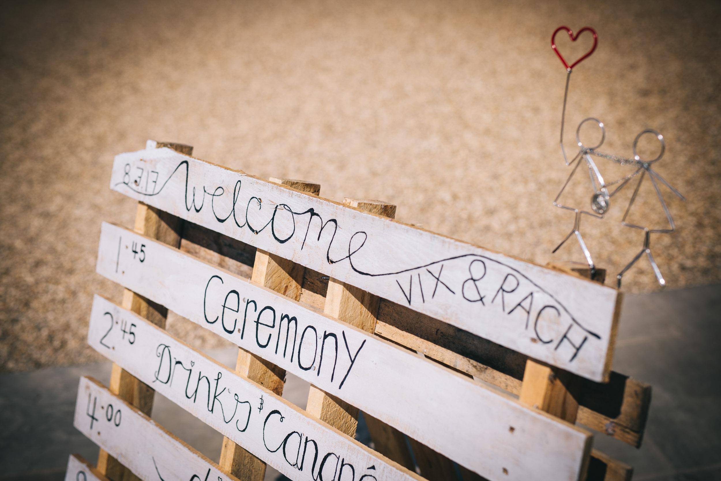 hand made wedding decor - cheshire wedding photographer