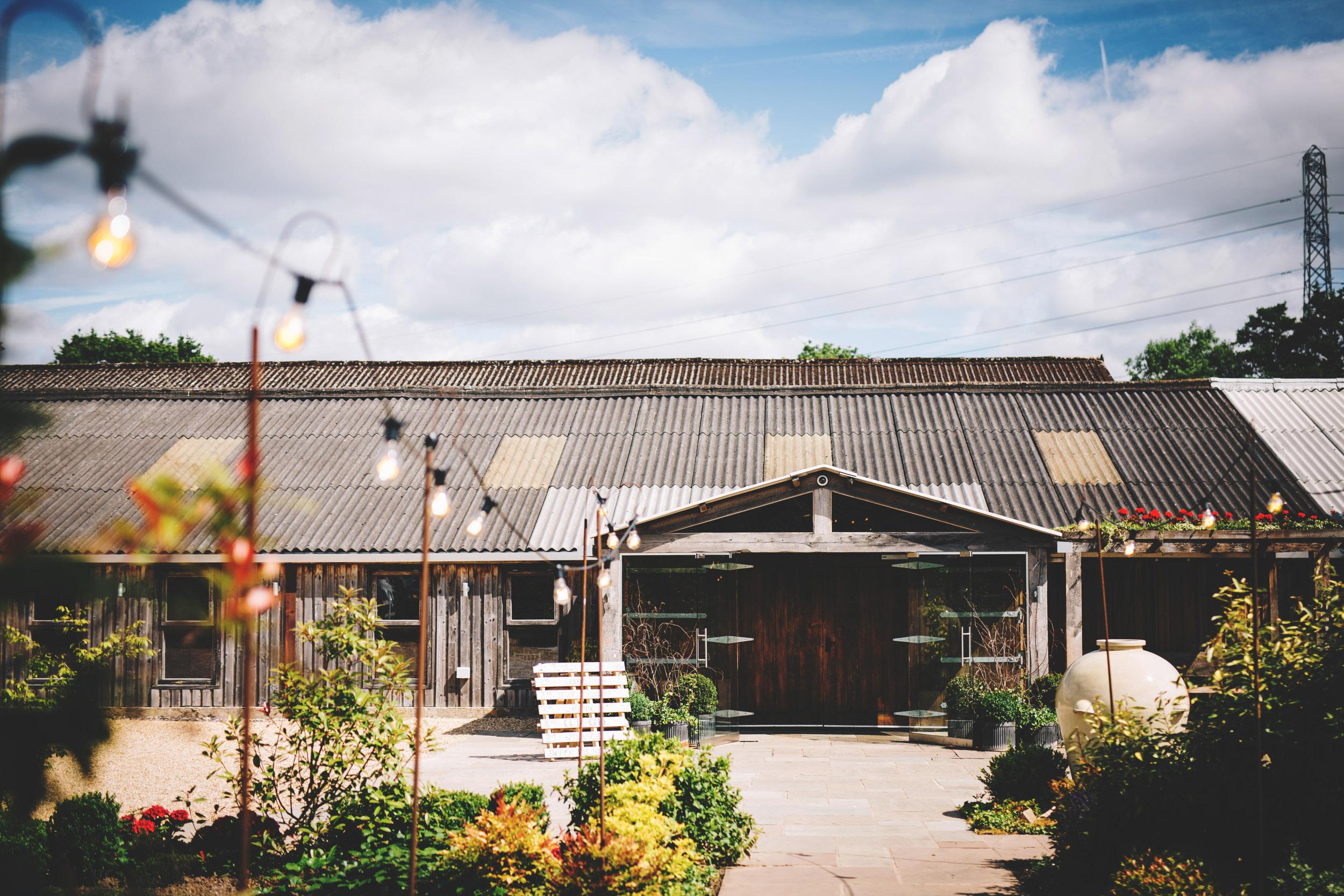 Exterior of Owen House wedding barn