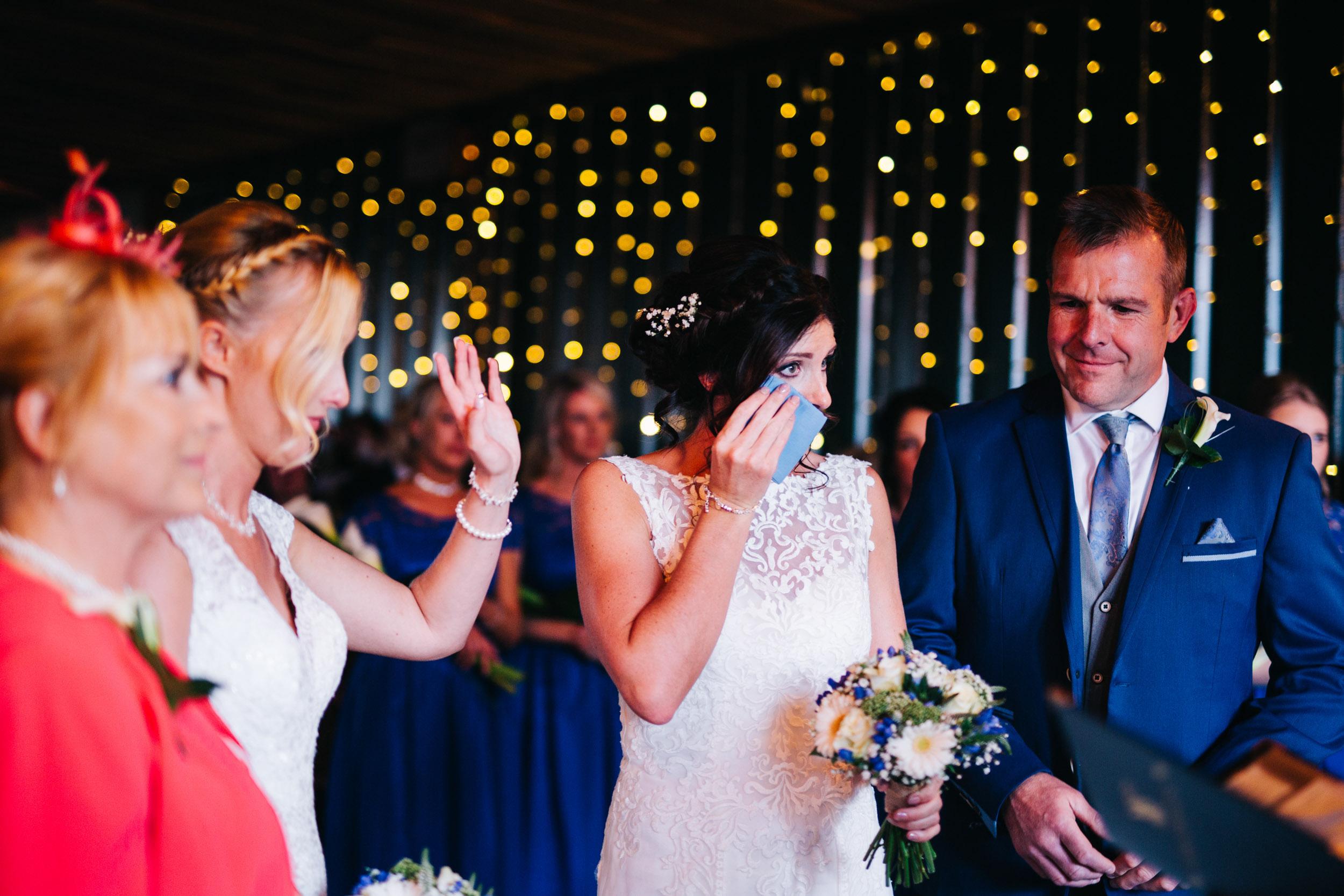 lots of tears - same sex wedding - Owen House wedding barn