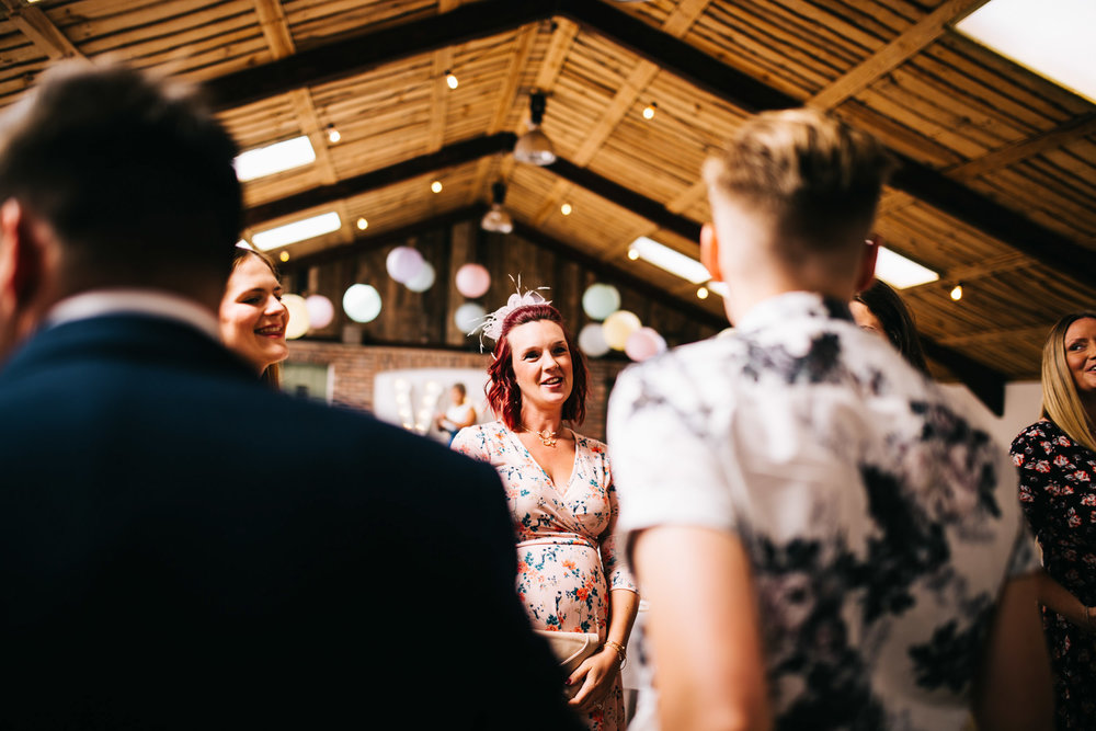 natural images of wedding guests  - cheshire wedding photography