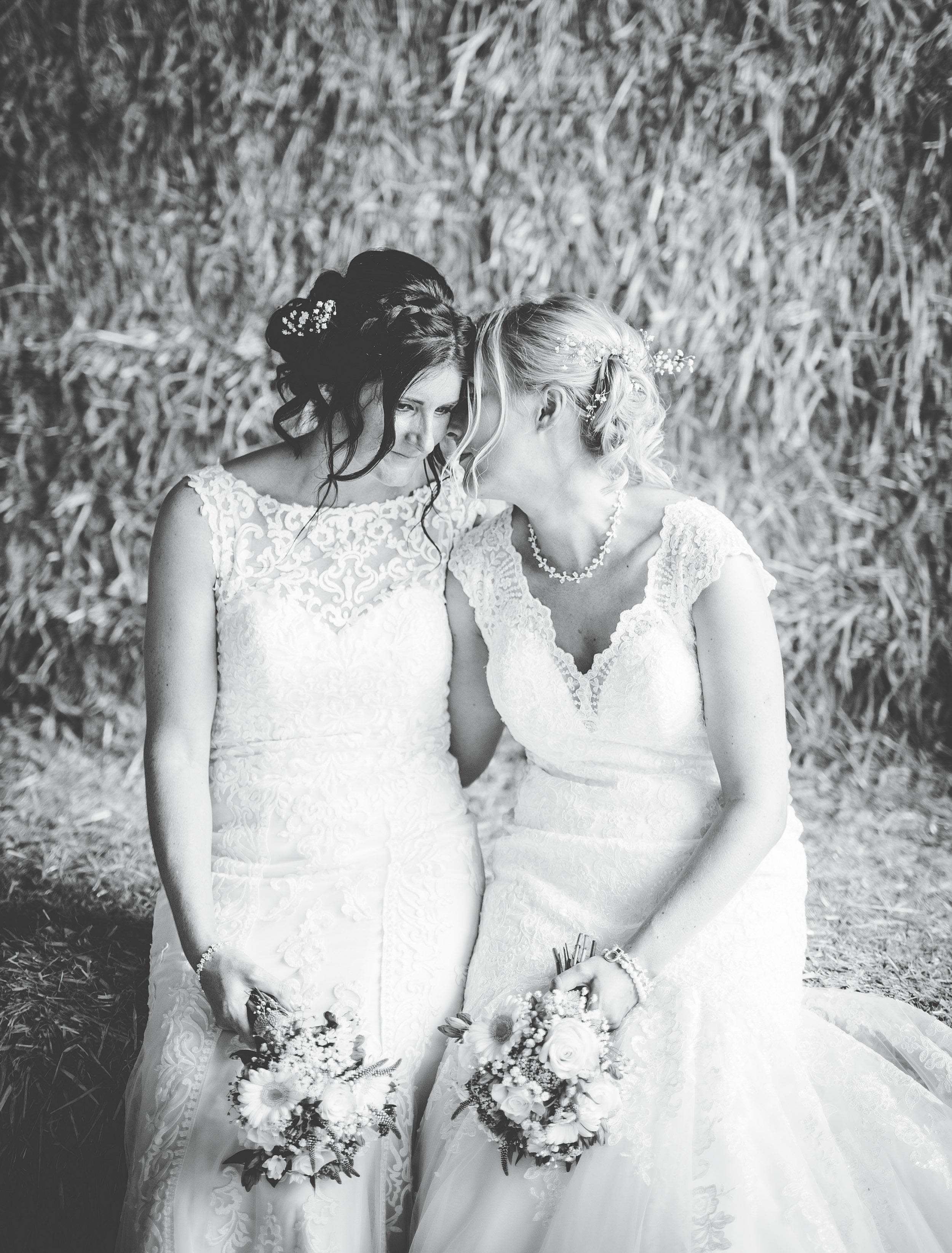 Owen House wedding barn - bride and bride Same sex wedding