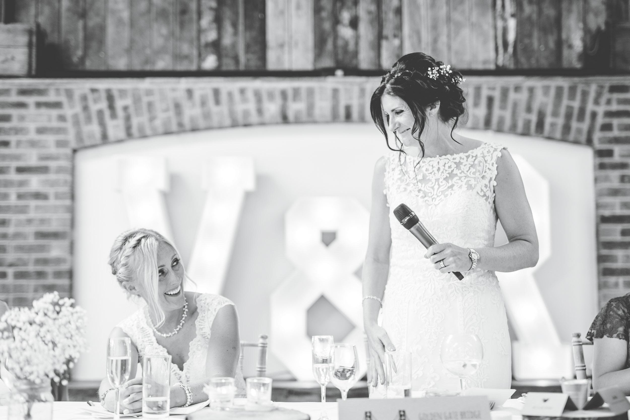 same sex wedding - bride's speeches