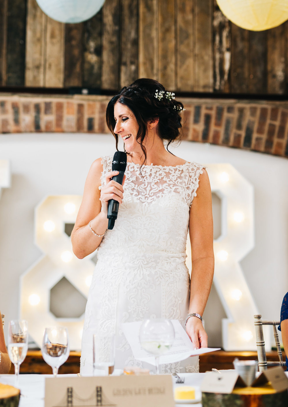 bride gives speech to her new wife