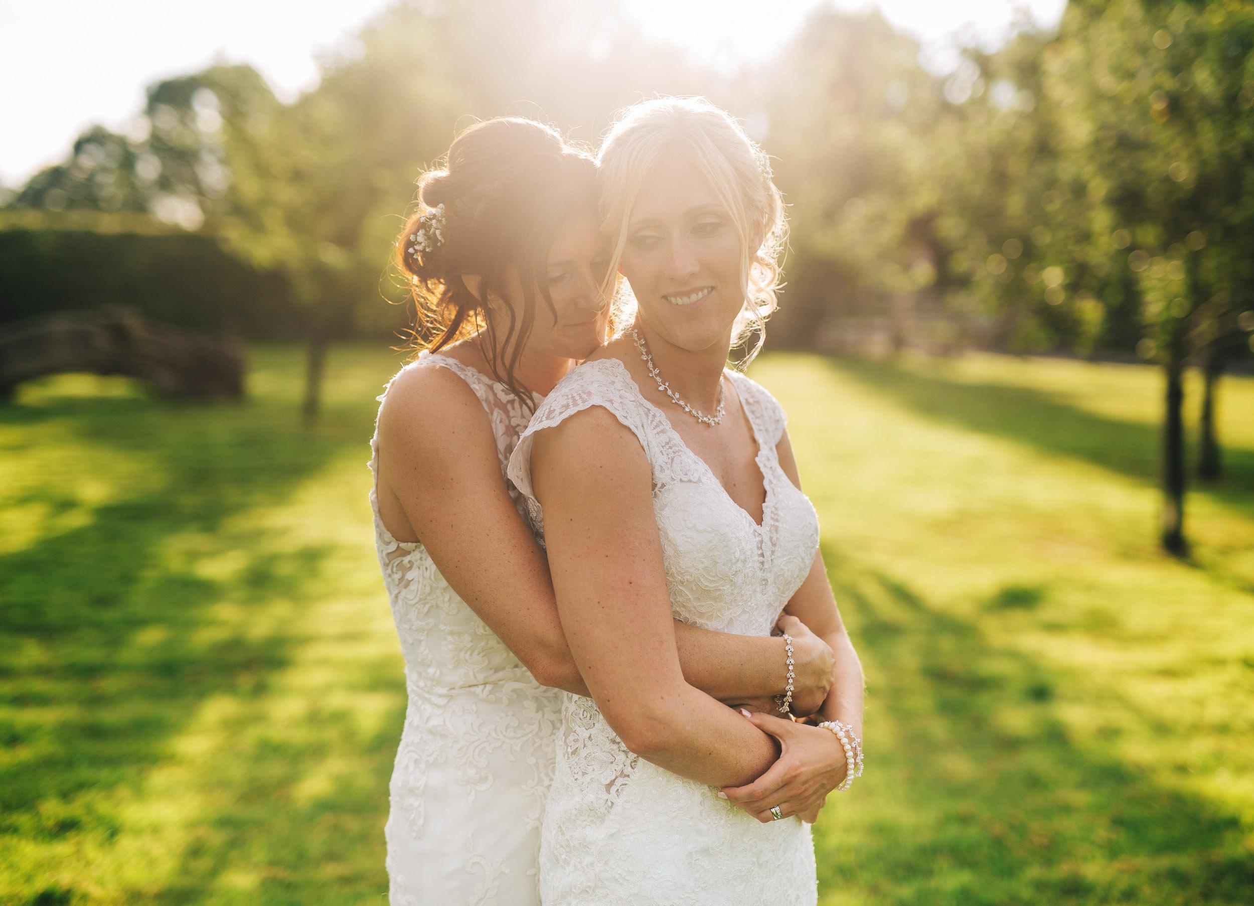golden hour wedding pictures - Owen House Wedding Barn