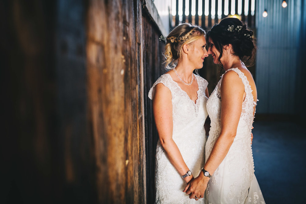 relaxed and intimate wedding pictures - same sex wedding in cheshire