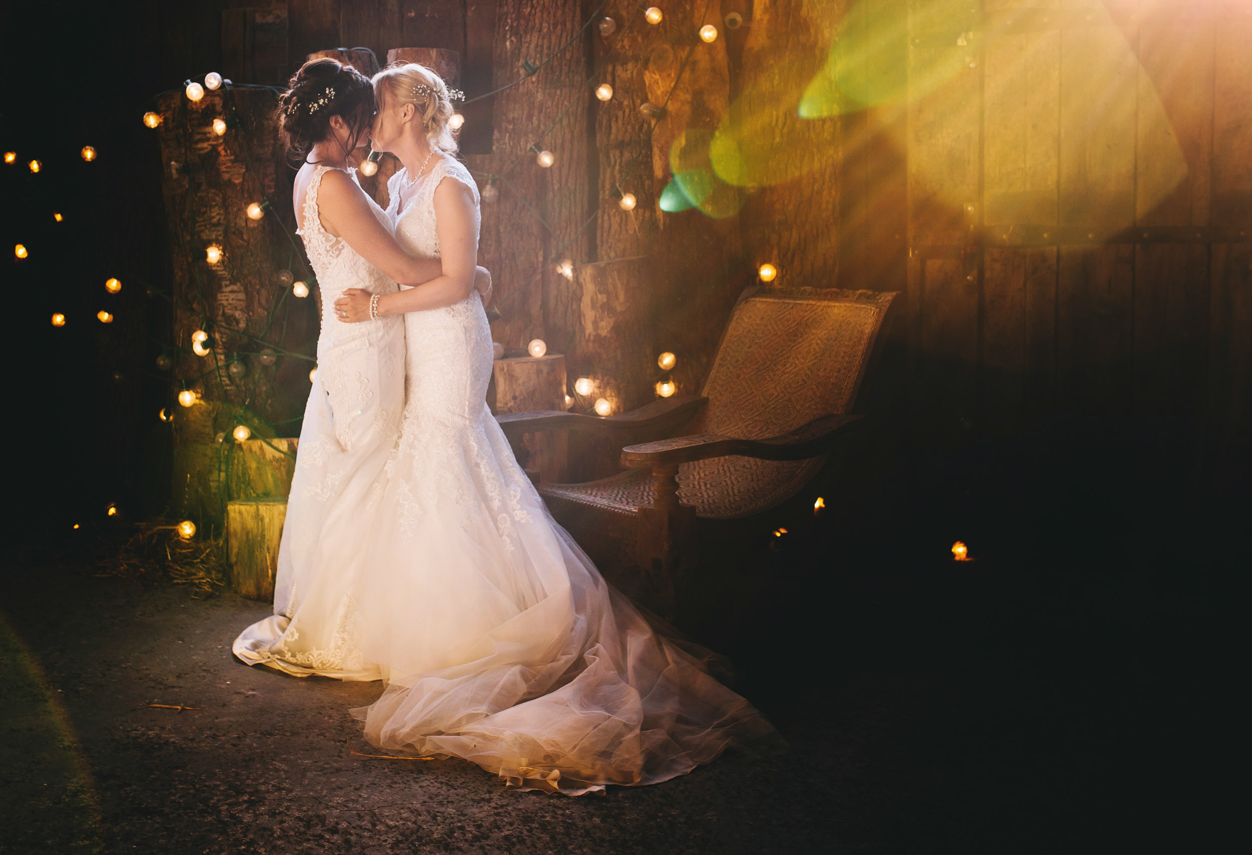 creative wedding photography Cheshire - bride and bride pictures
