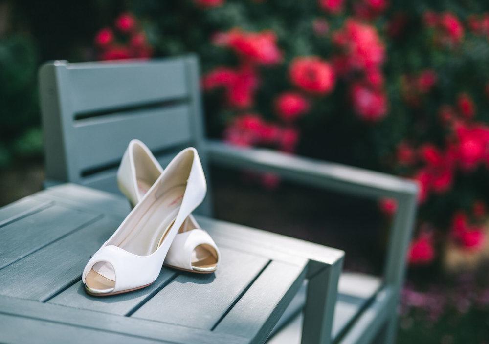 lancashire wedding photography - shoes outside