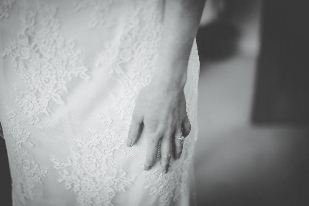 creative wedding photography in the north west - close up of bride's hands