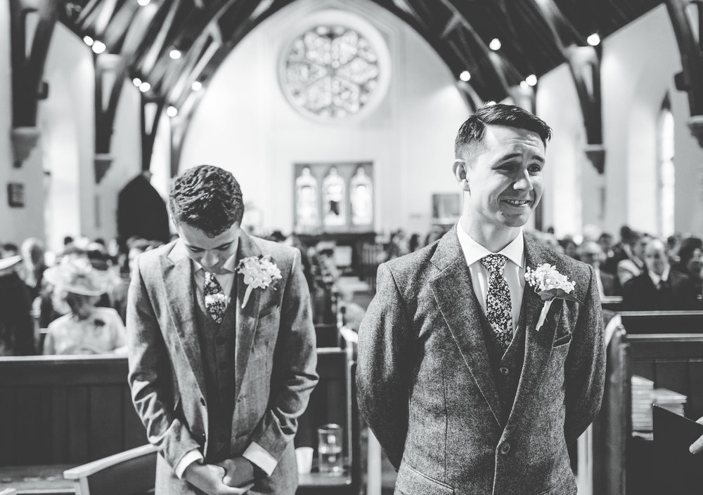 groom starts to feel a little nervous