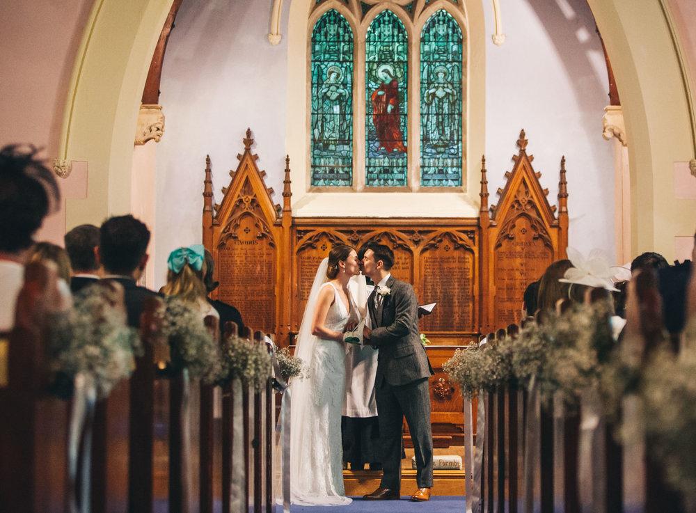 first kiss - wedding photography