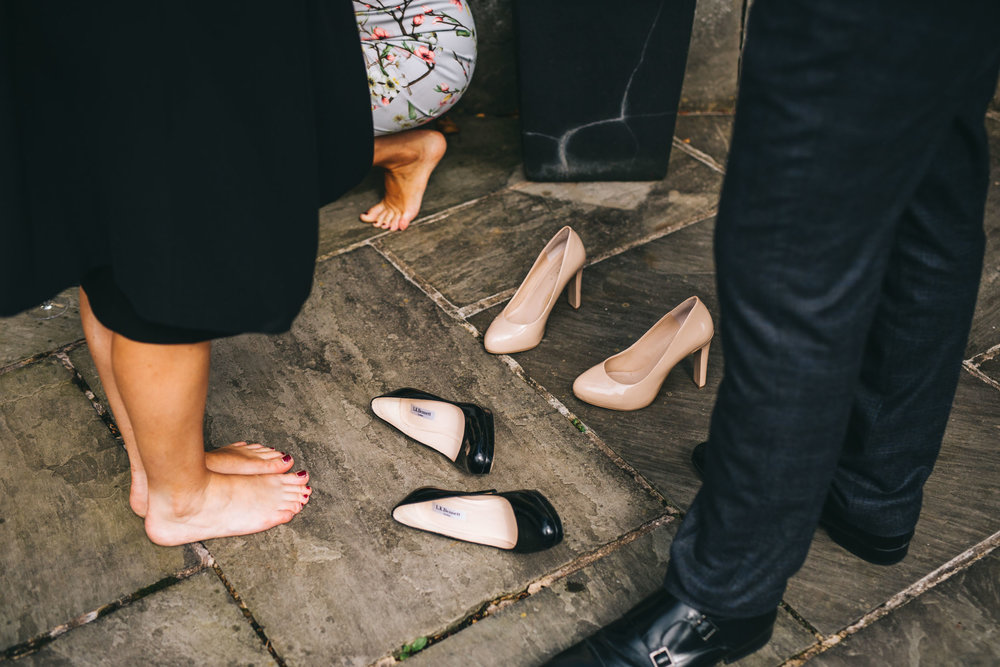 ditching the wedding shoes