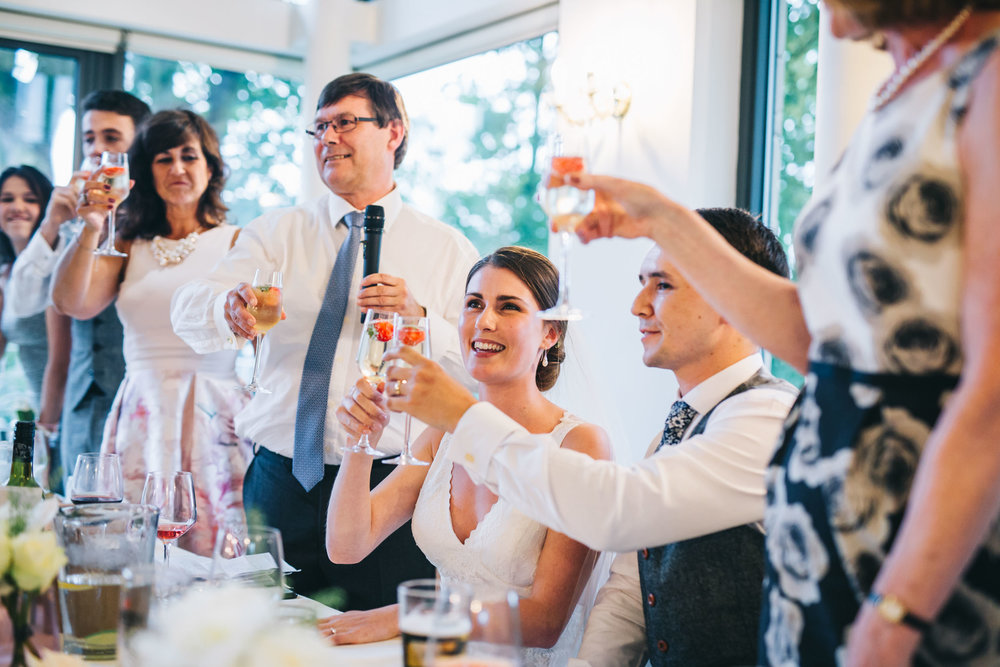 toasts to the bride and groom