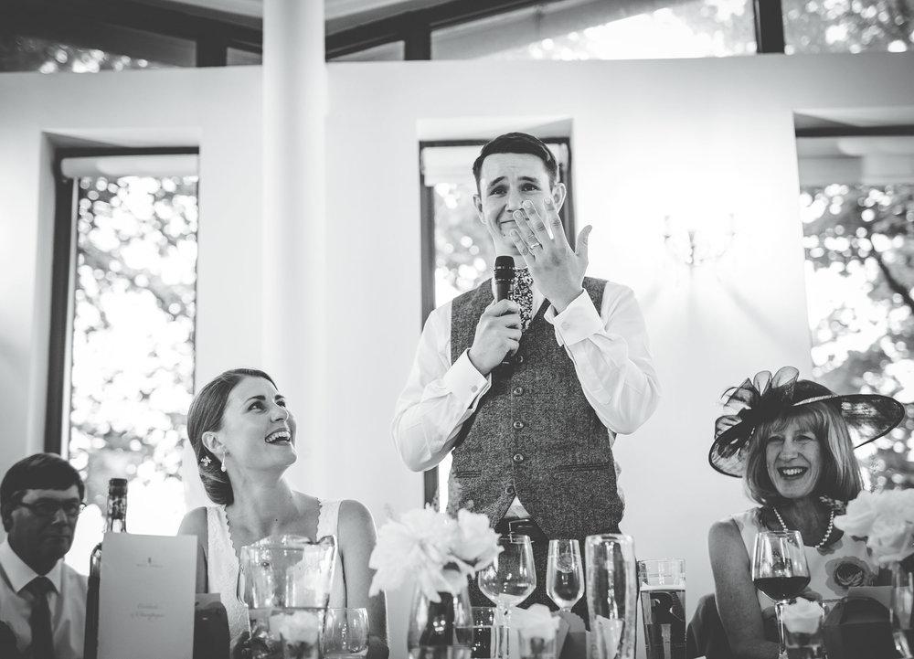 groom's speech at west tower wedding venue