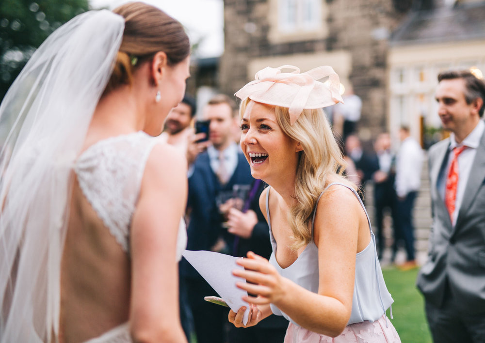 spontaneous laughter - capturing the wedding day