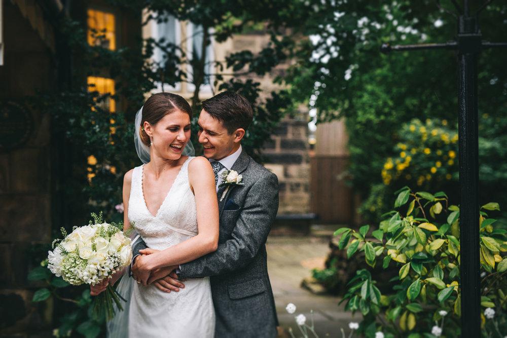 sweet and informal wedding photography