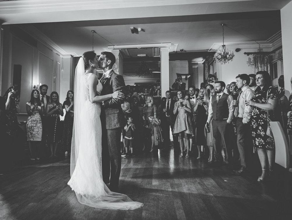 first dance at west tower wedding venue in Aughton