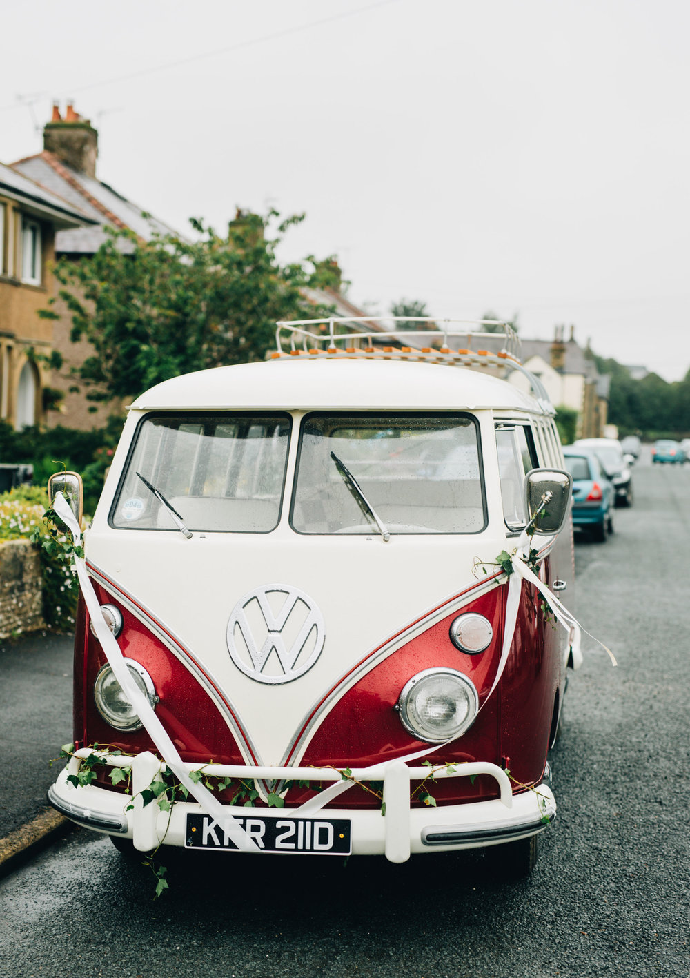 retro camper van - wedding photography in the north west