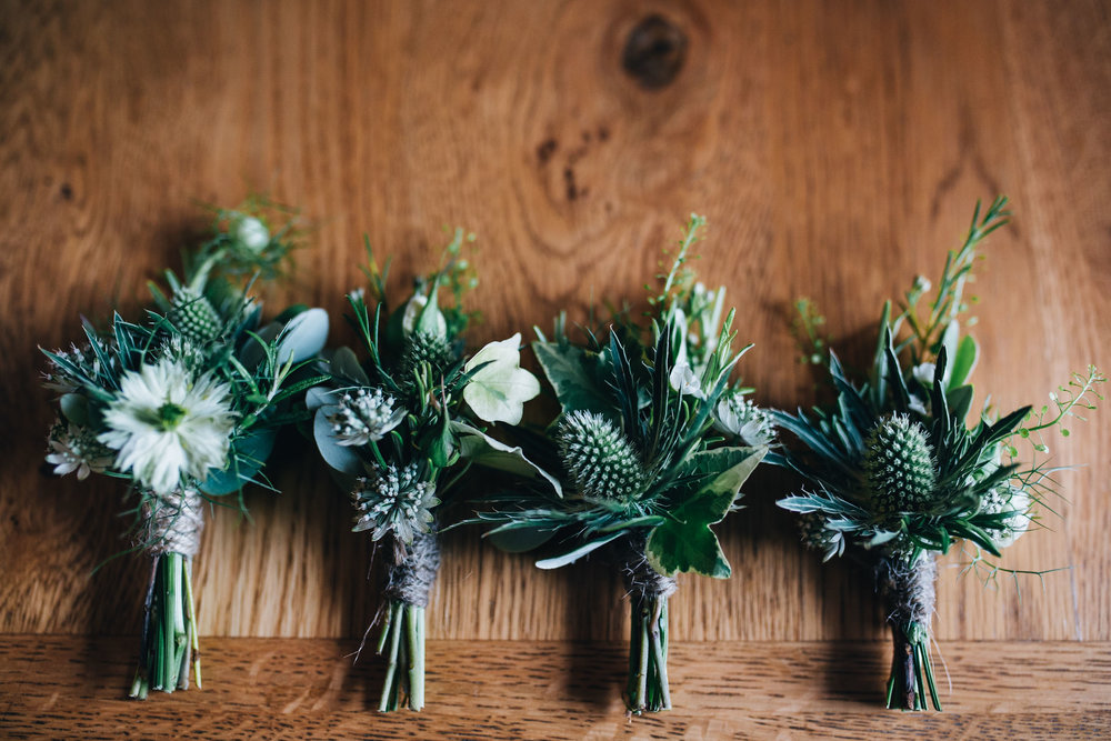buttonholes for a relaxed tipi wedding