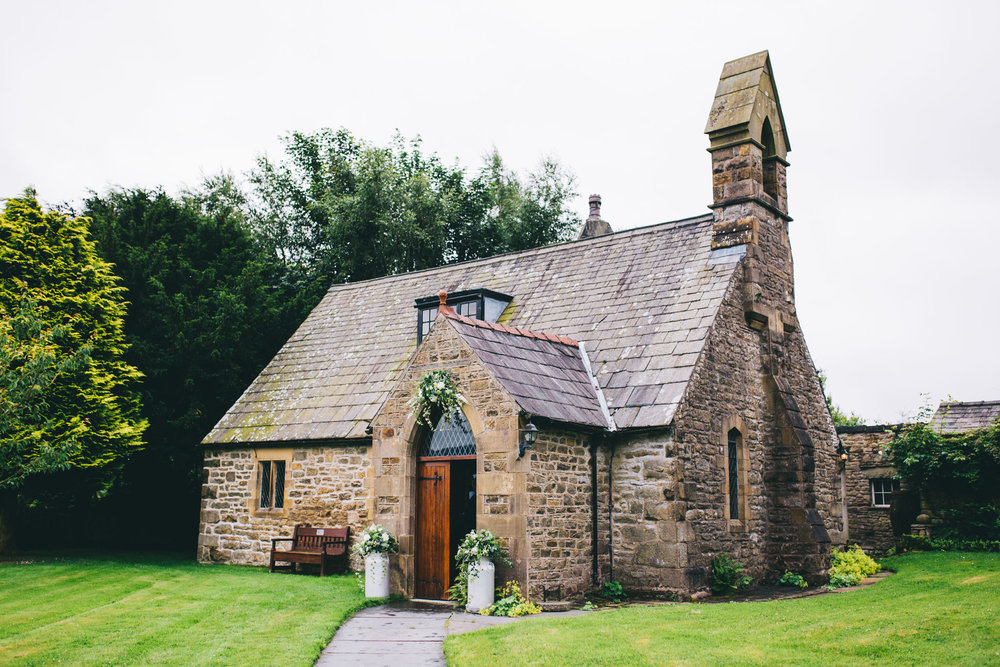 exterior shot of the church - wedding in Yorkshire