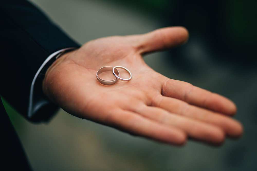 the wedding rings - creative wedding photography