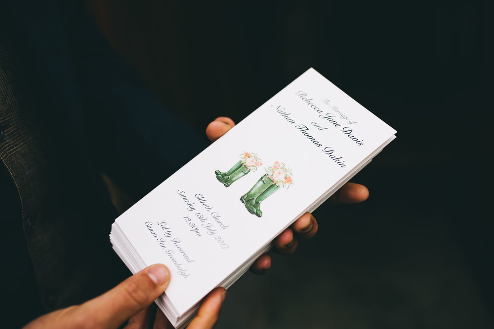 home made wedding designs
